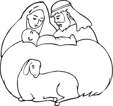 12 best nativity printouts images on Pinterest Free printable - new coloring pages of baby jesus in the stable