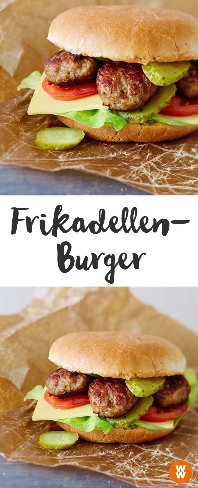 Würziger Frikadellen-Burger, Burger, Grill, Barbecue | Weight Watchers