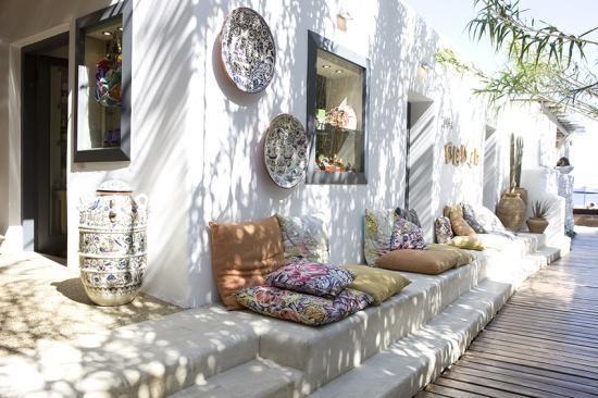 Decoración estilo griego Luisa Beach Store / Myconos