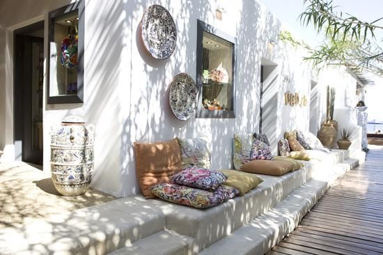 bohemian beach decor : Mykonos