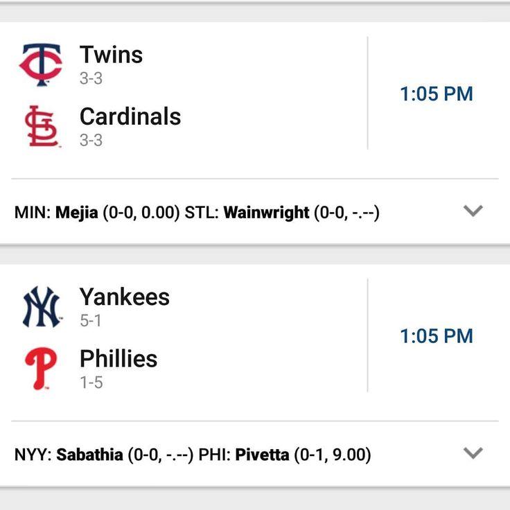 Juegos de las Grandes Ligas (MLB) hoy Jueves 01 Marzo. Registrate en www.myapuesta.com como cliente online y recibes el bono de $1 en apuesta. #mlb #beisbol #cardenales #cardenals #twins #yankees #redsox #phillies