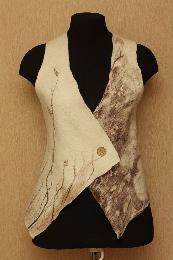 Slipped+away+summer+/+Felted+Clothing+/+Vest+by+LybaV+on+Etsy,+$150.00