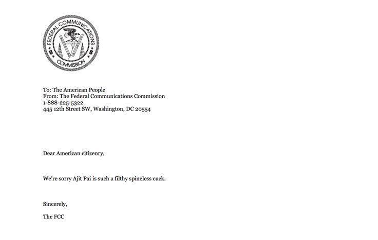 The FCC.gov Website Lets You Upload Malware Using Its Own Public API Key