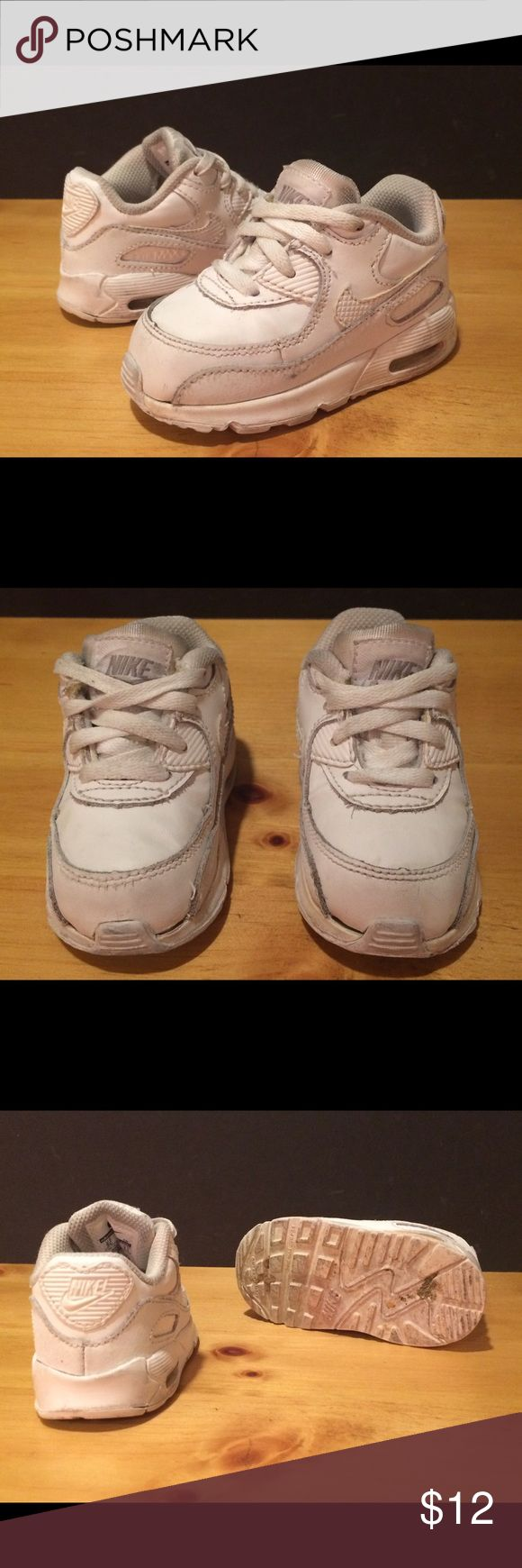 Baby Size 5C Nike Air Max White Shoes Baby size 5C white Nike Air Max shoes. See photos and please message with any questions! :) Nike Shoes Sneakers