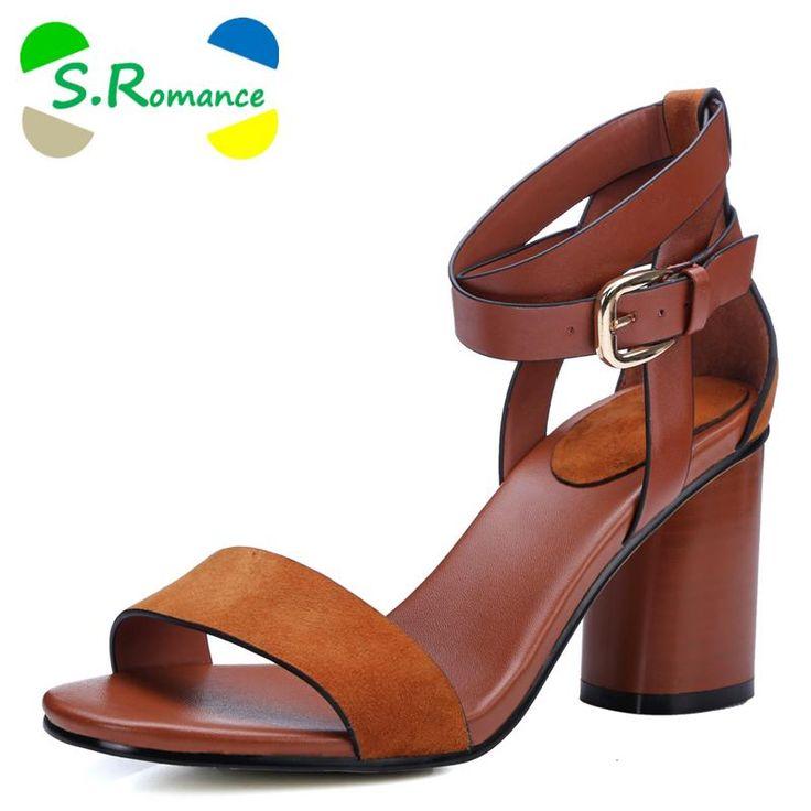 S.Romance Women Sandals New Arrival Fashion Hot Sale Summer Women Classics Sandals Office Ladies Woman Shoes Black Brown SS428