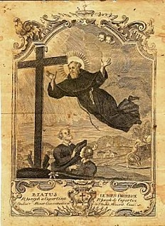 Saint Joseph of Cupertino, O.F.M. Conv., (Italian: San Giuseppe da Copertino) (June 17, 1603 – September 18, 1663) was an Italian Franciscan friar who is honored as a mystic & saint.  He practised mortification & fasting & kept 7 Lents of 40 days each year & during many of them tasted no food except on Thursdays and Sundays. Prone to miraculous levitation & intense ecstatic visions. He is recognized as the patron saint of air travelers, aviators & poor students.   Feast Day Sept. 18  YBH