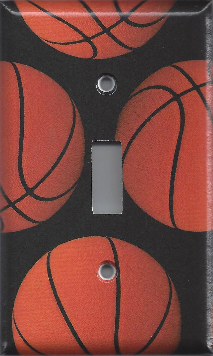 Boys basketball bedroom ideas - Basketball Sports Theme Kids Room Light Switch Covers Wall Outlet Covers Handmade Bedroom Decor