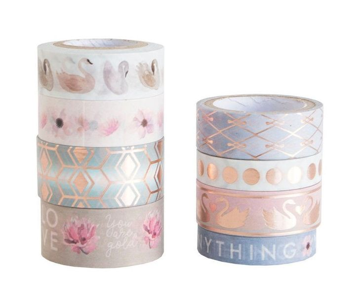 Michaels Crafr Smart Planner Washi Tape Tube set - Serenity Swan Pink Gold    eBay