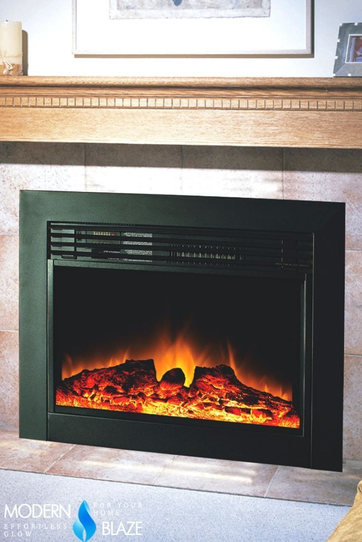 Perfect Electric Insert To Replace Your Gas Log Set Or A Wood Fireplace Forg Realistic Electric Fireplace Stone Electric Fireplace Built In Electric Fireplace