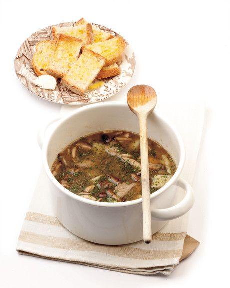 #Zuppa di #funghi e #patate