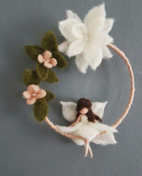 """Kinderzimmerdekoration - Mobile """" Blütenfee """"  - ein Designerstück von Giodali bei DaWanda"""