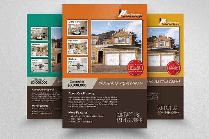 house for sale advertising flyer designbundles pinterest