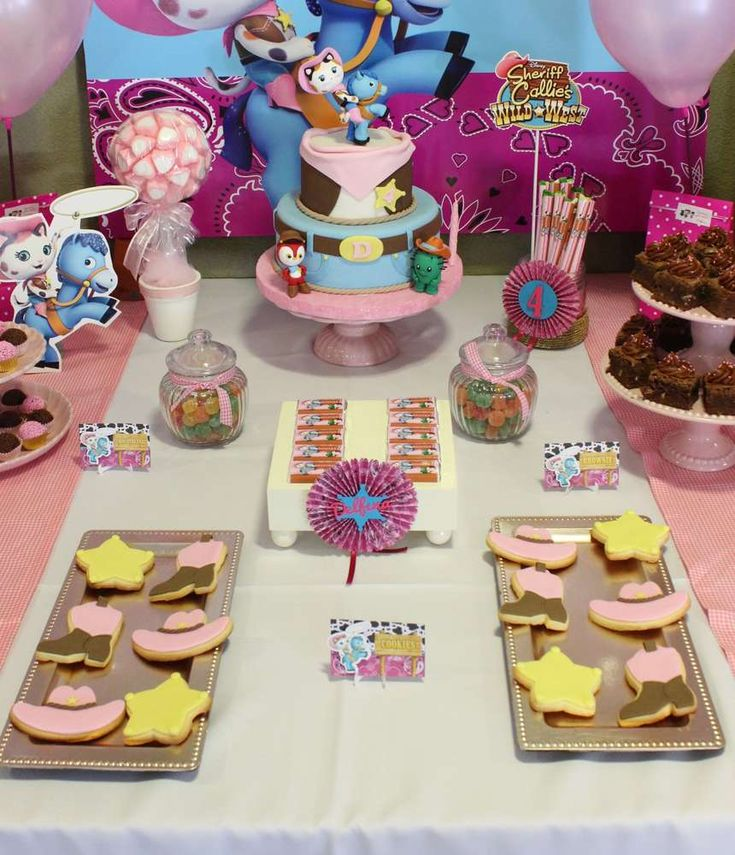 Fun treats at a Sheriff Callie birthday party! See more party planning ideas at CatchMyParty.com!