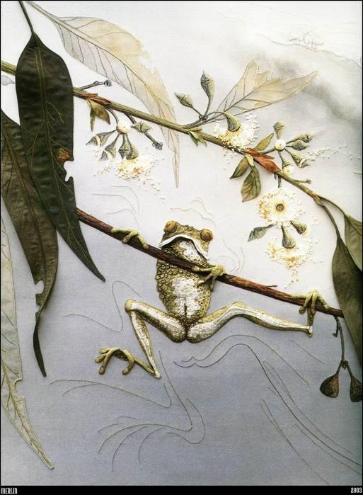 Textile art by Annemieke Mein - Viola.bz