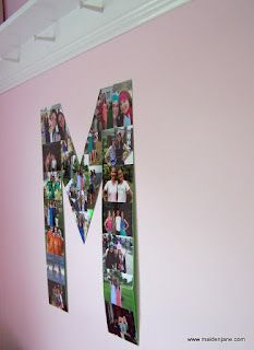 Dorm Room Decor -Monogram Photo collage