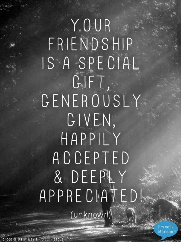 Friendship is a special gift (Photo © Monica Mankinen - Daisy Davis Pitbull Rescue)