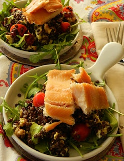 Black Lentil and Smoked Trout Salad