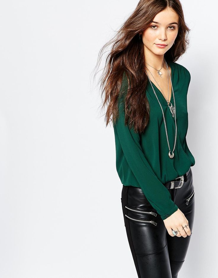 I like the blouse. Especially the color. Green/emerald green
