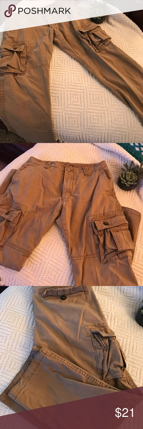 💥Old Navy MENS Cargo Pants 30x30 w/ Side pockets 💥Khaki Cargo pants 30x30 MENS PANTS Old Navy Pants Cargo