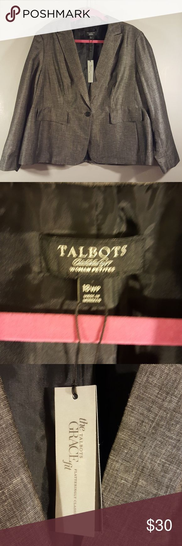 Talbots Woman Petite Blazer- Size 18wp Awesome blazer.  Gorgeous color. I purchased it as a suit set. I love the pants and skirt but I'm not a blazer gal!😉 NWOT Talbots Jackets & Coats Blazers