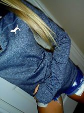 Pink by Victoria's Secret gray half zip pullover Yoga sweatshirt jacket euc XS