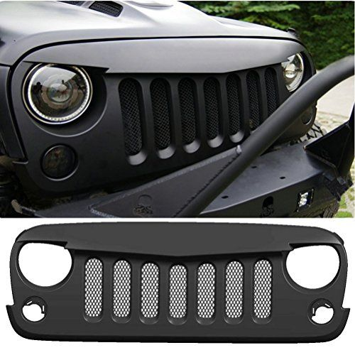 Sunluway® 2015 Latest Black Front Matte Grill Mesh Grille Angry Bird Grille Grid For jeep Wrangler Rubicon Sahara Jk 2007-2015