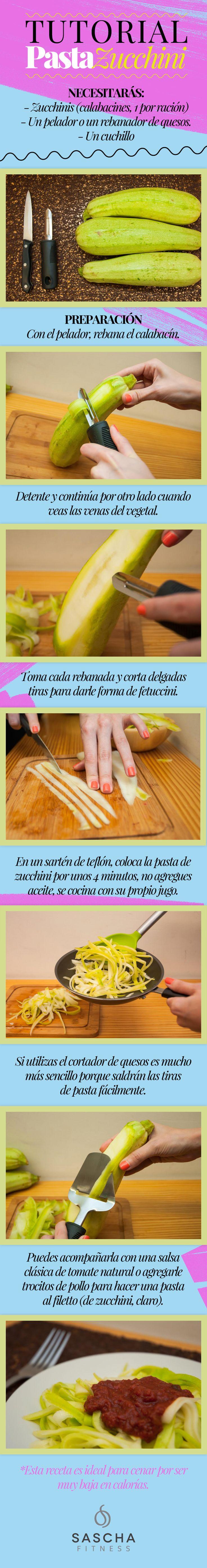 Tutorial: Pasta de zucchini