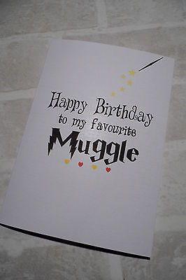 Personalised birthday card best #friend boy#friend girl#friend harry potter…