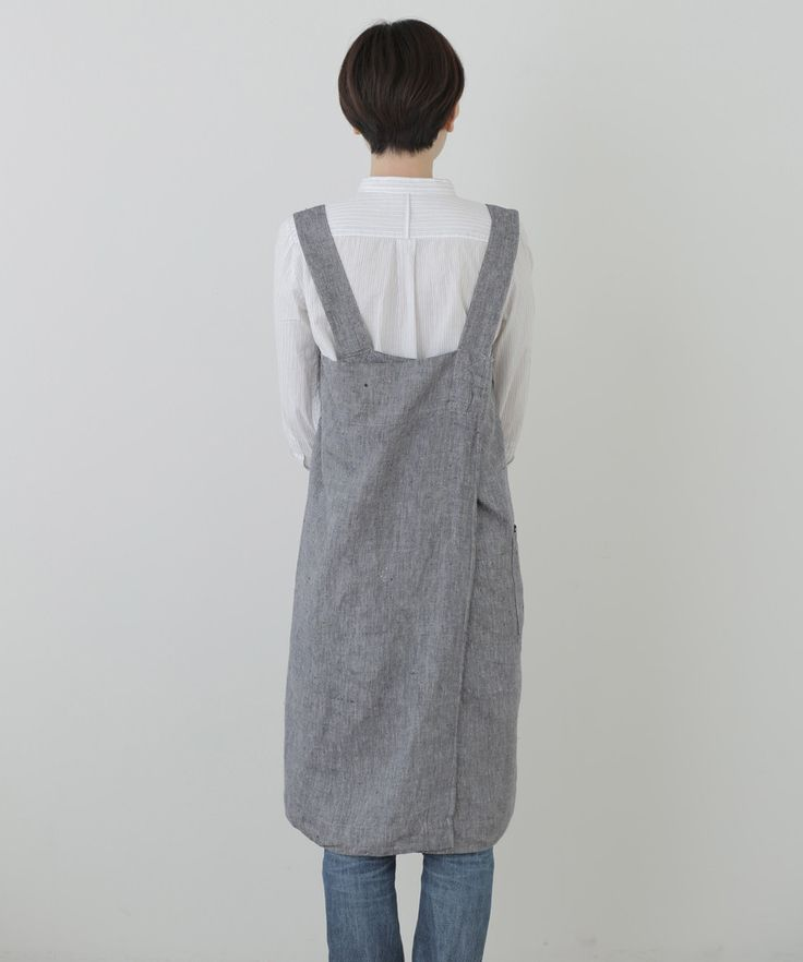 Cross Apron: Linen Denim – Shop Fog Linen