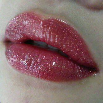 B. Ruby LipSense with Gold Glitter Gloss LipSense www.senegence.com distributor 186569