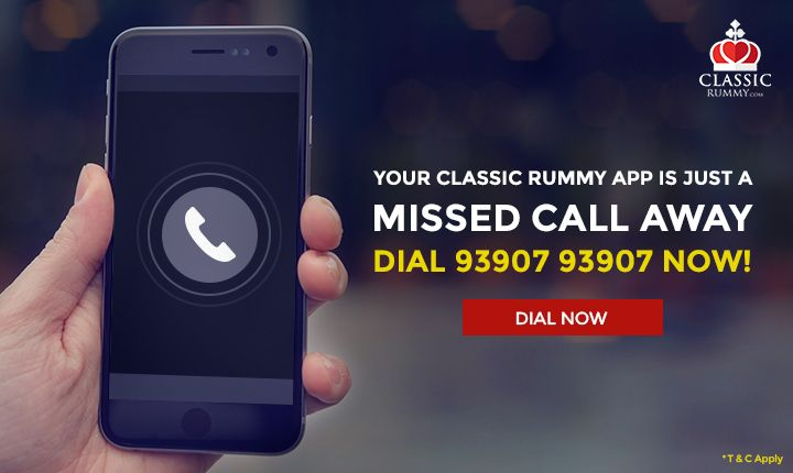 Your classic rummy app is just a Missed Call Away. DIAL +91 93907 93907 Now!  #rummy #classicrummy #Indianrummy #rummyonline #onlinegames #mobileapp #androidapp #classicrummyapp #mobilegames #androidmobile #freecash #freegames #freeonlinegames #cardgames