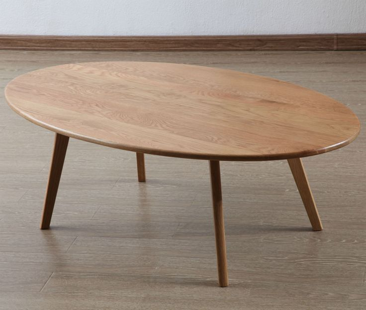Magnus Oval Coffee Table - Solid Oak - 130x75x43cm - ICON BY DESIGN