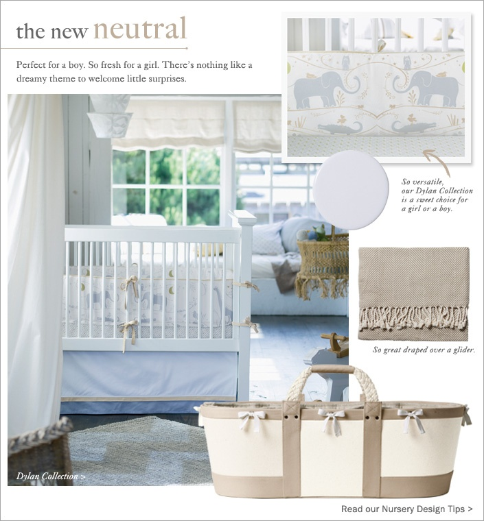 oh my goodness! this has adorable written all over it! Nursery Design by Serena & Lily