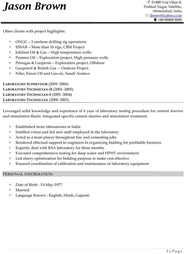 constructions resume sample - Field Engineer Sample Resume