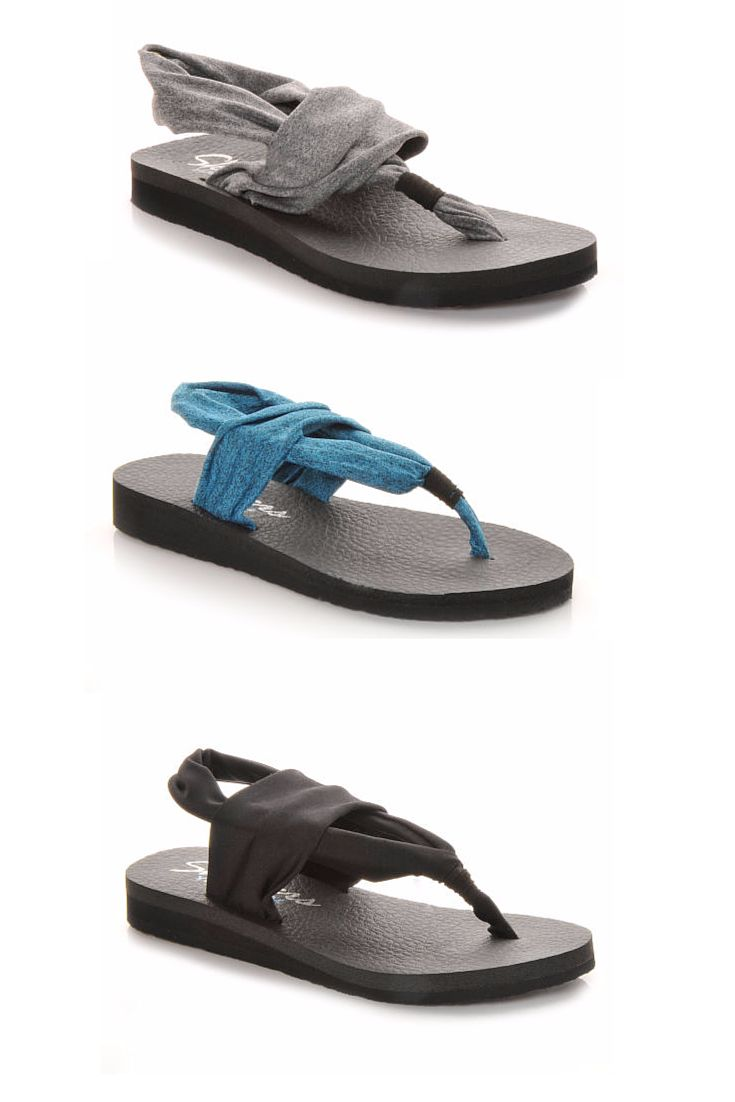 6a1f8529f29b These Skechers thong sandals feature a Yoga Foam cushioned comfort footbed!   comfortable