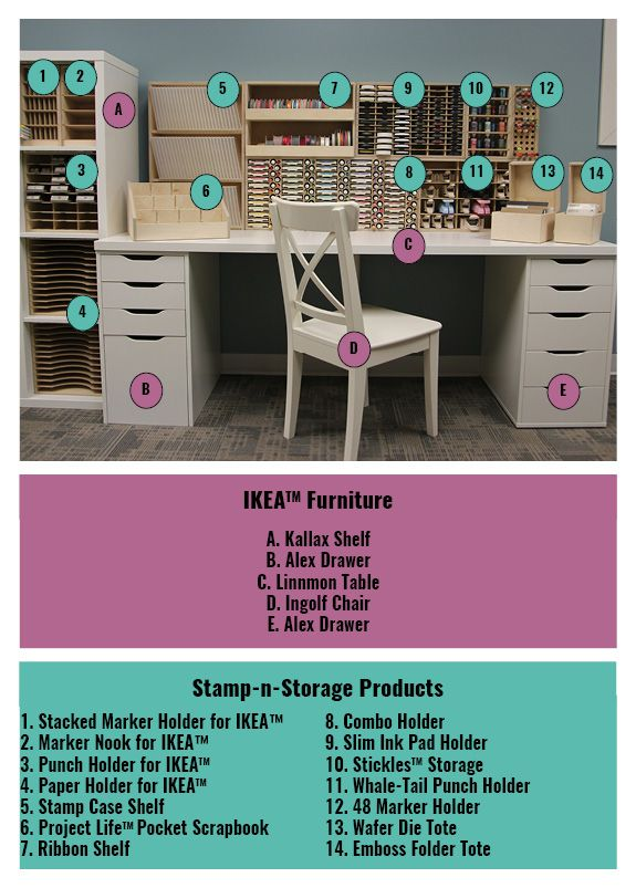 PERFECT craft space http://www.stampnstorage.com/blog/expo-booth-display-product-listing-a1051e/