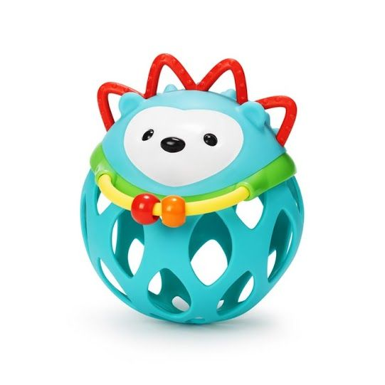 Baby toys from Skip Hop are adorably cute, delightfully designed and tons of fun, like this cheery Hedgehog roll around rattle!