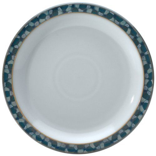 Denby Azure Shell Dessert/Salad Plate, Set of 4 by Denby. $139.95. Dishwasher, microwave, oven and freezer safe. Strong, durable and chip-resistant. Dessert/salad plate, set of 4. Each piece of pottery is painstakingly glazed by skilled craftsman. Material: stoneware. Azure is reminiscent of warm summers and indulging in exciting fresh food. This pattern combines a unique turquoise glaze with fresh white, a truly timeless collection that reveals a clean and cool l...