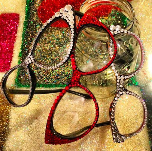 Love Marnie Eyecandy Swarovski Crystal Adorned Glasses www.marniegrundman.com
