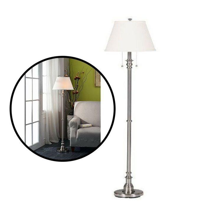 Floor Lamp Shade Brushed Steel Spyglass Elegant Style Home Light Decorative #Unbranded