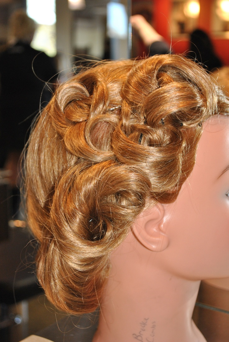 Pin-up style updo