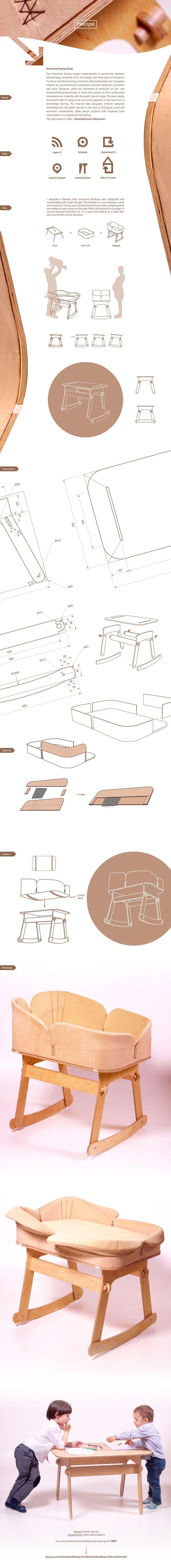 Download Design Project: Pekópé Baby Bassinet Design on Behance