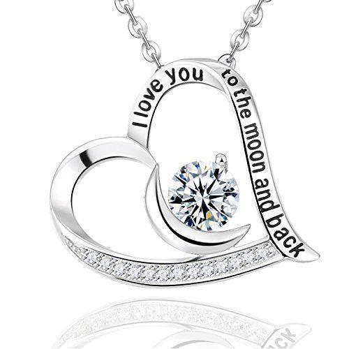 Mothers Day Gifts Necklace Pendant I love You Sterling Silver For Mother Mom NEW #EldaCo