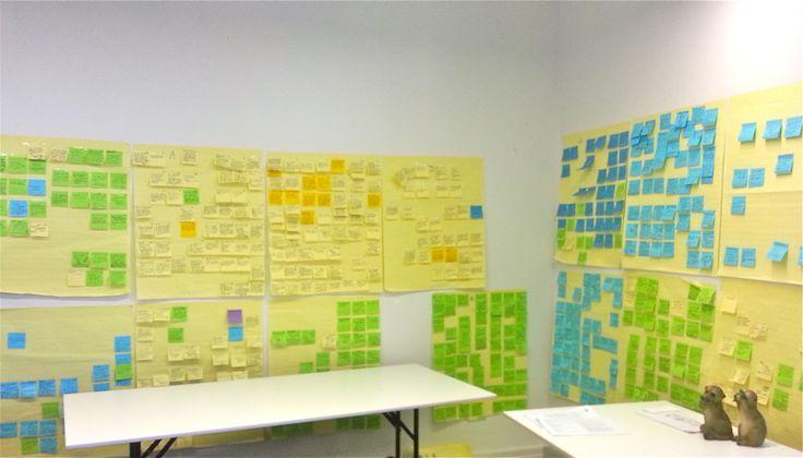 Interview with Farhat Zaheer-Flaherty, Brand Planner at Meerkats, in the post-it room.