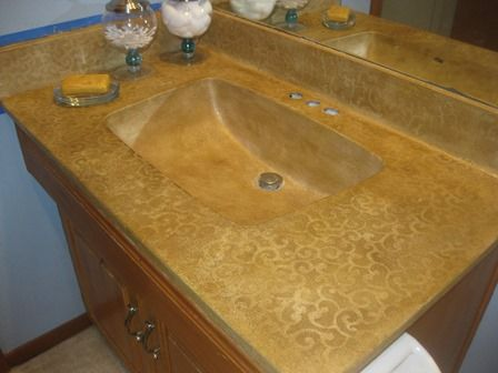Renew a cultured marble vanity countertop house and home - Faux marble bathroom countertops ...