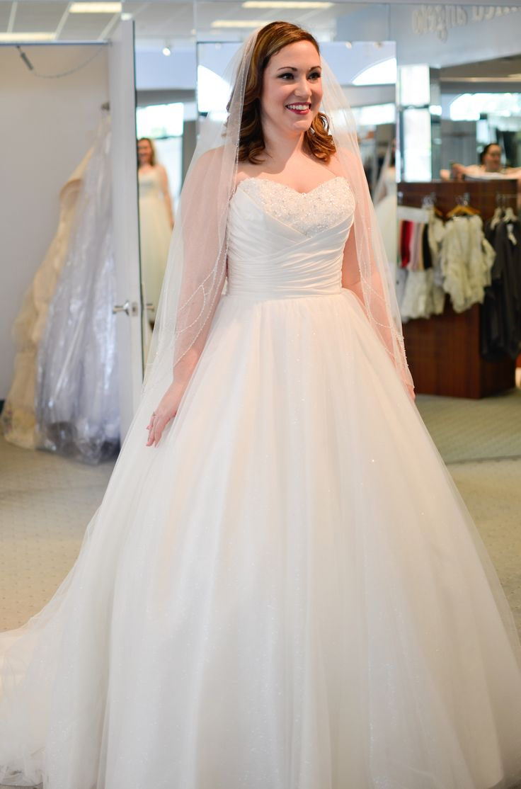 18bbc9485ee Ashley Eckstein s sister tried on eight Disney Fairy Tale Wedding dresses  by Alfred Angelo for her upcoming Disney wedding!
