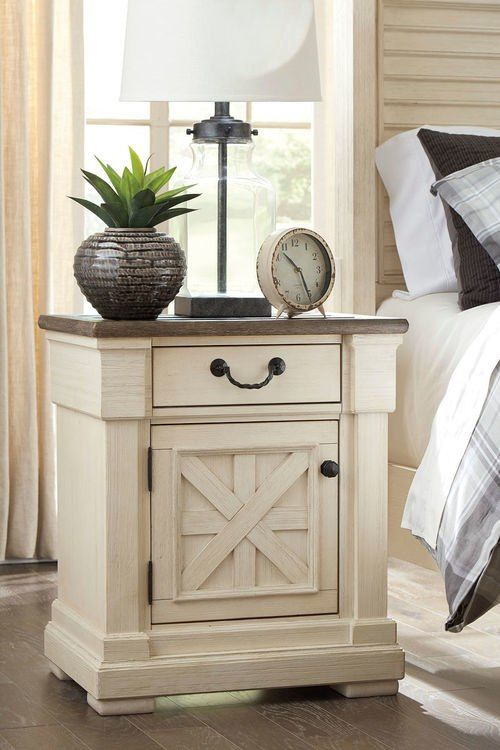 Best Bolanburg Two Tone One Drawer Night Stand Furniture 400 x 300