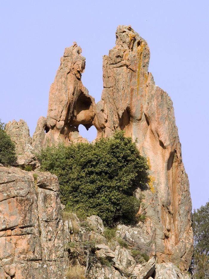 Le Coeur dans la Roche à Piana - Corse