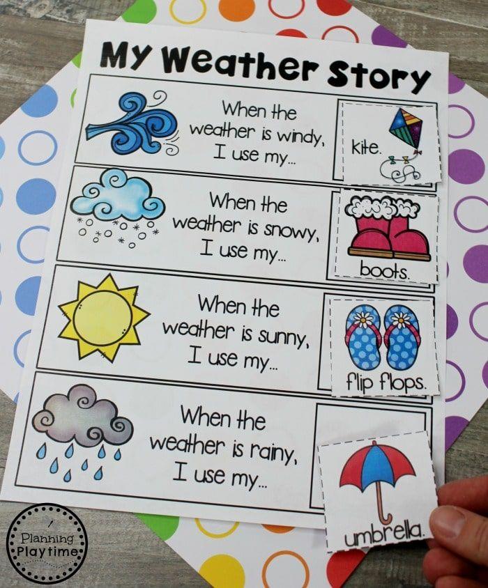 Kindergarten Writing Worksheets Planning Playtime Weather Kindergarten Weather Activities Preschool Weather Kindergarten Activities Preschool lesson plan ideas for weather
