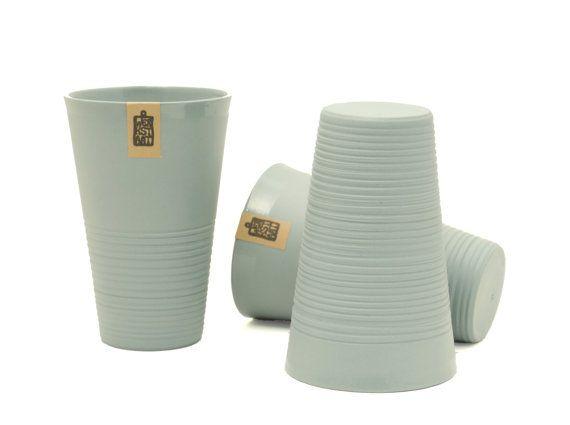 Minimalistic ripped porcelain mug XL mug large mug by WerkStaat